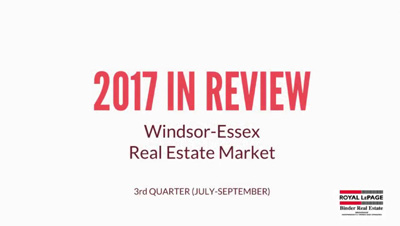 Q3 2017 Windsor-Essex County Real Estate Market Statistics